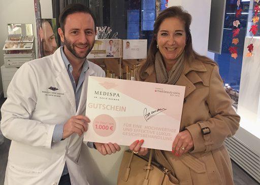 MEDISPA verlost ein Gutschein, glückliche Gewinnerin einer Luxus-Gesichtbehandlung