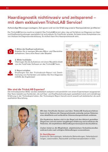 Dr. David Bacman als Experte zur nichtinvasiven Haardiagnostik in der FotoFinder Einblicke