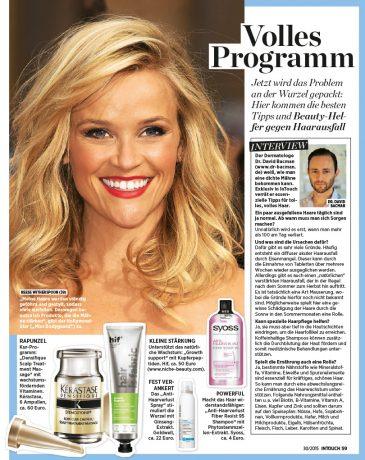 Tipps gegen Haarausfall von Medical Skin Center Köln InTouch 2015
