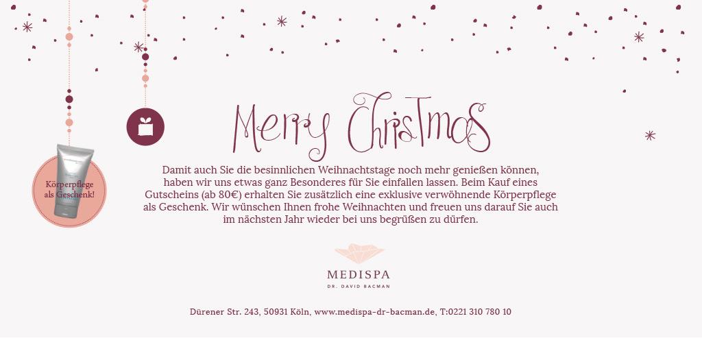 Weihnachtsaktion bei MEDISPA